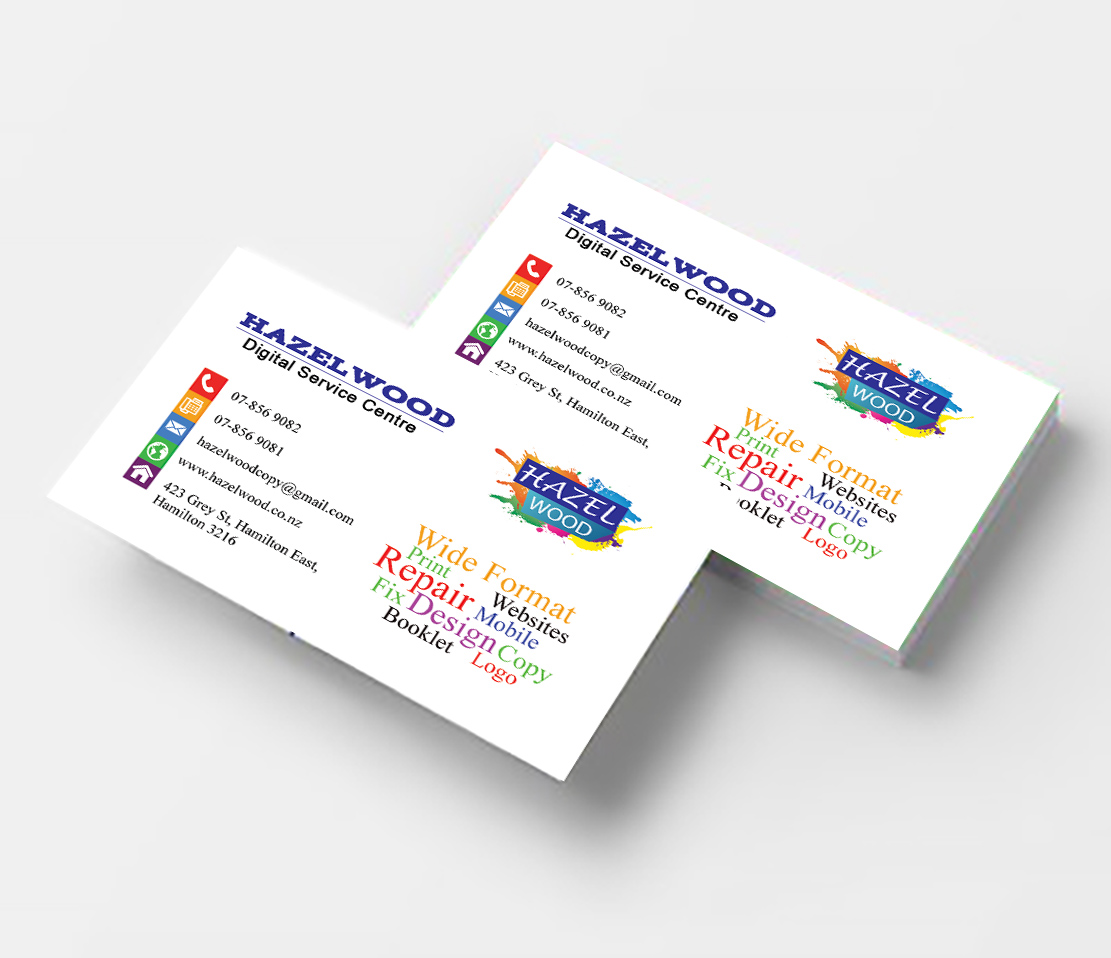 Business cards double sided hazelwood print design it services business cards reheart Images